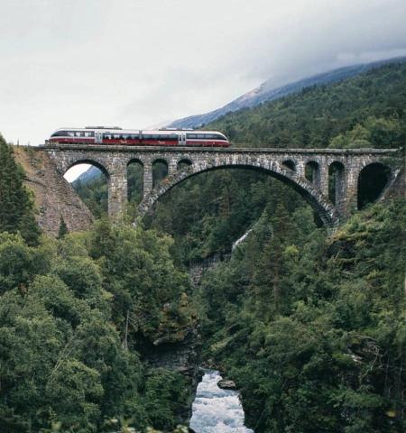 Норвегия. Природа и поезд